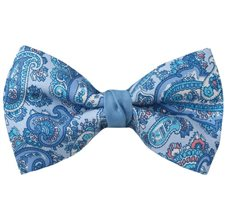 Blue Bow Tie with Paisley