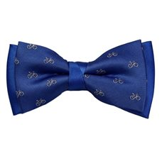 Royal Blue Bow Tie with White Bikes