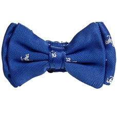 Royal Blue Baby's Bow Tie with White Horses