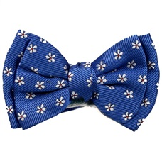 Royal Blue Baby's Bow Tie with Daisies