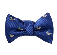 Royal Blue Baby's Bow Tie with Ducks