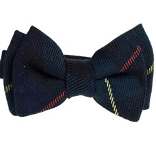 Dark Blue Checked Baby's Bow Tie