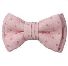 Pink Baby's Bow Tie with Dots