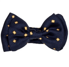 Dark Blue Baby's Bow Tie Checked