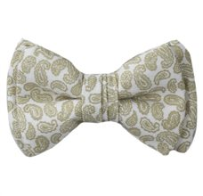 Baby's Bow Tie with Green Paisley