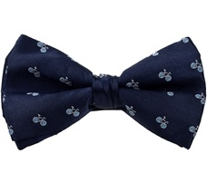 Dark Blue Bicycle Bow Tie
