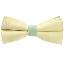 Yellow and Green Bow Tie