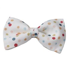 White Bow Tie with Dots
