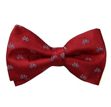 Red Bicycle Bow Tie