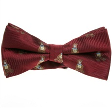 Bordeaux Bow Tie with Bears