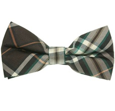 Brown and Green Tartan Bow Tie