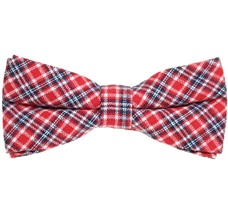 Red and Blue Tartan Bow Tie