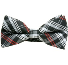 Black and Red Tartan Bow Tie