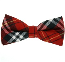 Red and Black Tartan Bow Tie
