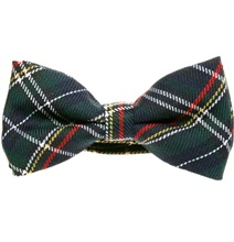 Green, Blue and White Tartan Bow Tie