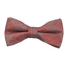 Dark Orange Checks Bow Tie