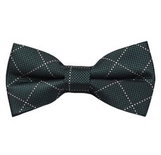 Dark Green Checks Bow Tie