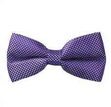 Purple Vichy Checks Bow Tie