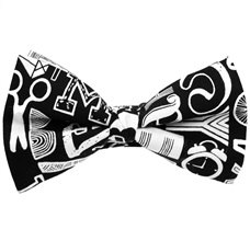 Black and White Design Bow Tie