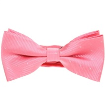 Pink Bow tie with Silver Dots