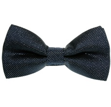 Deep Blue and Silver Dress Bow Tie