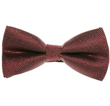 Burgundy and Silver Dress Bow Tie