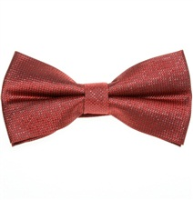 Garnet and Silver Bow Tie