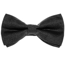 Black and Silver Dress Bow Tie