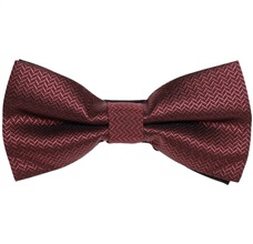 Garnet Bow Tie with Spikes