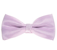 Mallow Bow Tie with Silver Stripes