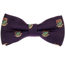 Purple Bow Tie with Heraldic Shield