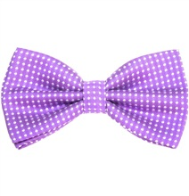 Purple Bow Tie with White Dots