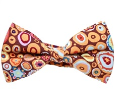 Multicolour Brown Pop Bow Tie