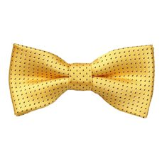 Yellow Boy's Bow Tie with Black Dots