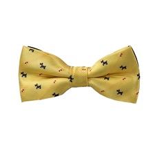Yellow Boy's Bow Tie with Schnauzer