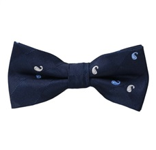 Dark Blue Boy's Bow Tie with Paisley