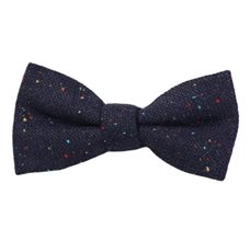Jasbiated Blue Boy's Bow Tie with Colors