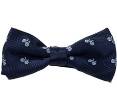 Blue Boy's Bow Tie with Bikes
