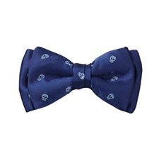 Dark Blue Boy's Bow Tie Skulls