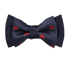 Dark Blue Boy's Bow Tie with Cars