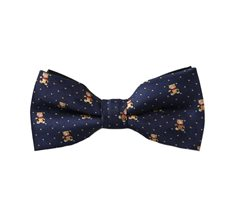Blue Boy's Bow Tie with Teddy Bear