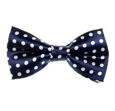 Deep Blue Boy's Bow Tie with Dots