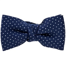 Blue Boy's Bow Tie with White Dots