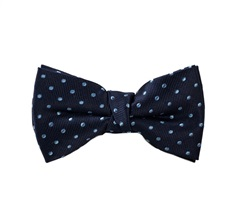 Blue Boy's Bow Tie with Sky Blue Dots
