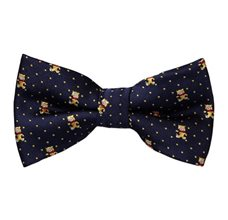 Blue Boy's Bow Tie with Teddy Bears