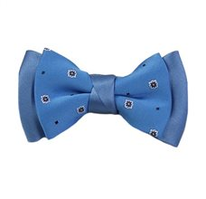 Blue Royal Boy's Bow Tie with Design