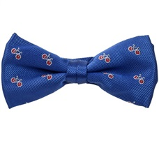 Royal Blue Boy's Bow Tie with Red Bikes