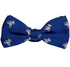 Royal Blue Boy's Bow Tie with Teddy Bears