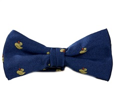 Royal Blue Boy's Bow Tie with Yellow Ducks