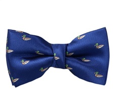 Royal Blue Boy's Bow Tie with Ducks